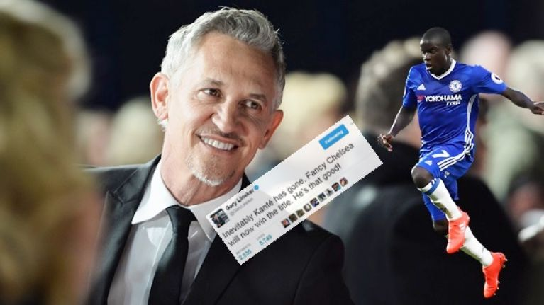 Gary Lineker's tweet from last July tells you everything you need to know about N'Golo Kante