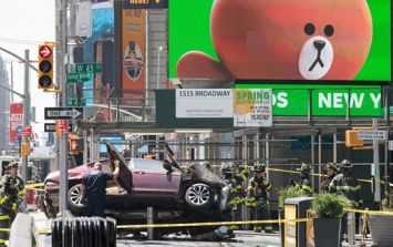 Several injuries reported in Times Square after speeding vehicle strikes pedestrians