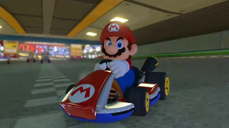 An offensive gesture has been removed in the latest update for the new Mario Kart game