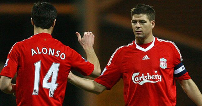 Steven Gerrard's farewell to Xabi Alonso may be the most beautiful of all