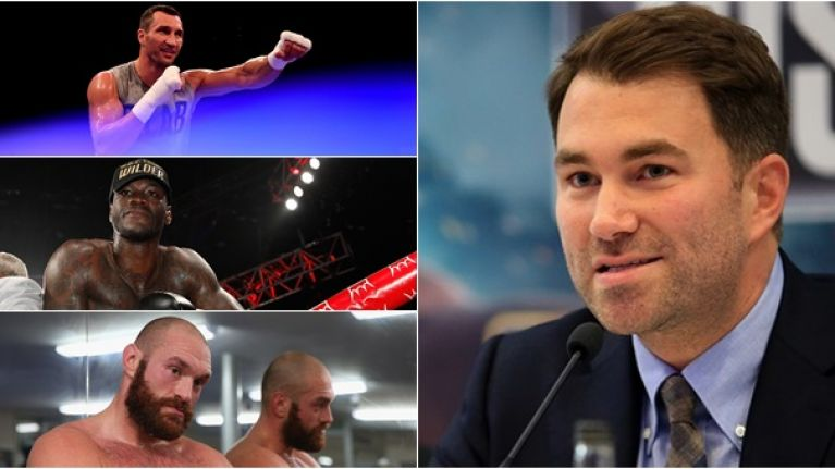 Anthony Joshua's next three fights revealed by Eddie Hearn