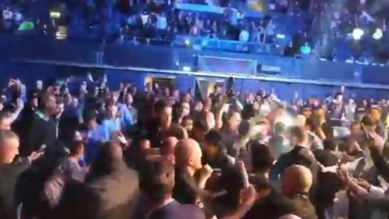 Brawl breaks out after Paul Daley submits to debuting Rory MacDonald