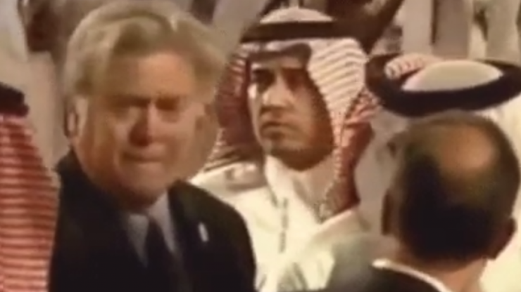 People are obsessed with this GIF of Steve Bannon in Saudi Arabia