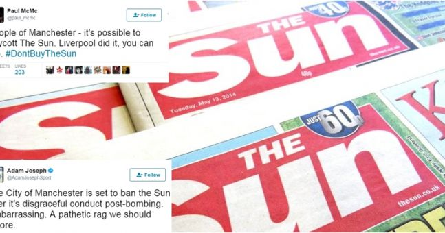 There's a petition to ban The Sun in Manchester after their appalling coverage of the attack