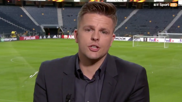 BT Sport's Jake Humphrey had a powerful message about Manchester and the importance of football