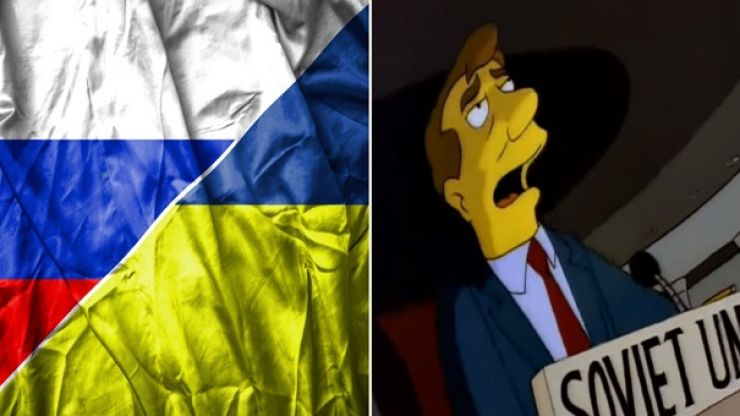 Ukraine wins bizarre Twitter row with Russia with truly excellent Simpsons reference
