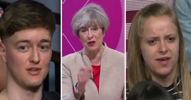 Two utterly brilliant statements towards Theresa May got people talking during Question Time