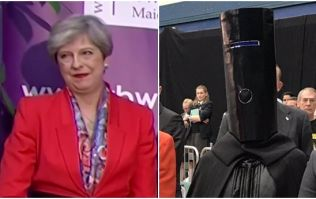 Theresa May clearly isn't a fan of Lord Buckethead