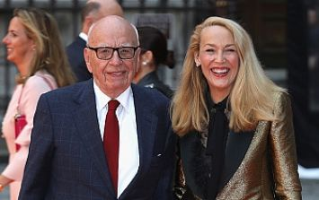 Rupert Murdoch has apparently stormed out of a party in a huff over the General Election results