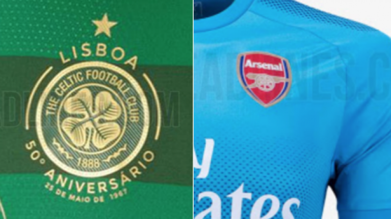 72623791d Rumoured away kits for Arsenal and Celtic have leaked and they re very tidy