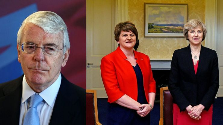 Former PM John Major urges Theresa May to withdraw from DUP deal