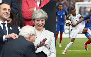 Everyone's saying the same thing as Theresa May watches France vs England