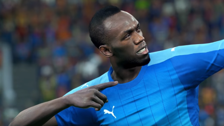 Usain Bolt will feature in Pro Evolution Soccer 2018
