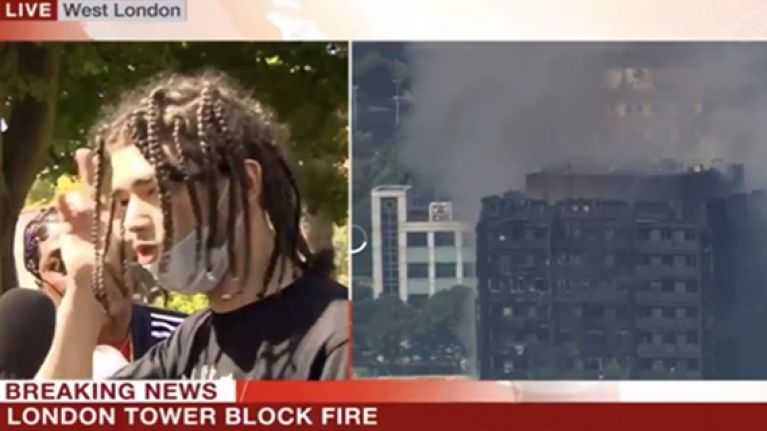 You probably won't see this passionate interview about the Grenfell Tower fire on TV again