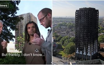 Tower block resident's interview is extremely difficult to watch
