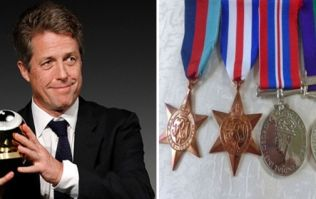 Hugh Grant kindly offers £1,000 for the return of blind WW2 veteran's medals