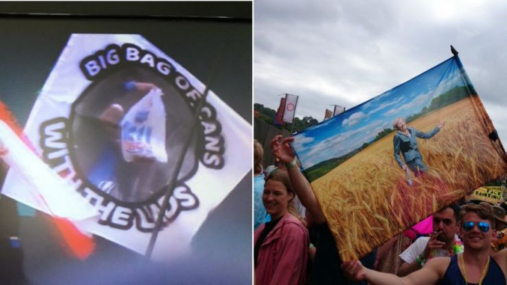 The best and funniest flags spotted at Glastonbury 2017