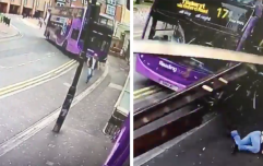 Man gets hit by a bus, somehow comes away without a scratch, and walks right into a pub