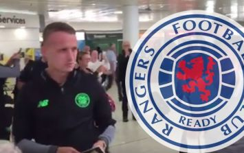 Leigh Griffiths absolutely destroyed a heckling Rangers fan at the airport