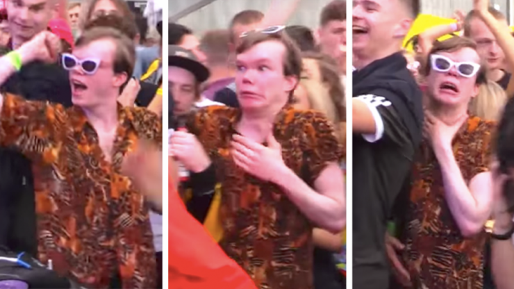 You can chart every massive night out through this guy's amazing facial expressions