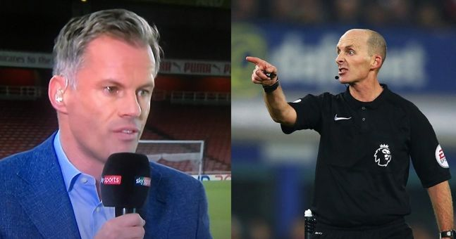"""""""He has to see that"""" - Jamie Carragher criticises Mike Dean for failing to spot Özil handball"""