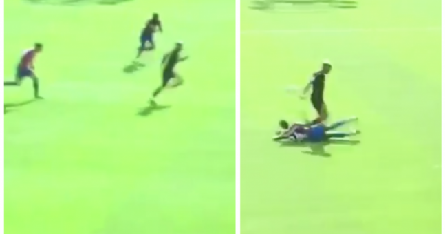 Man United youngster puts in strong contender for tackle of the season on opening day