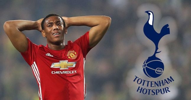 Tottenham have reportedly bid for Manchester United's Anthony Martial