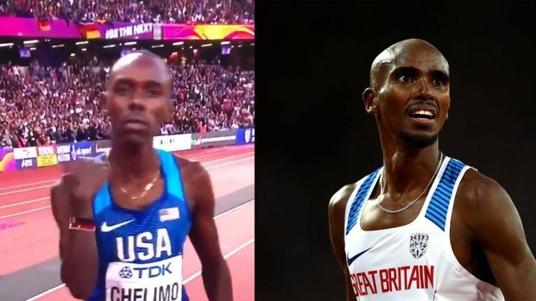 Viewers accuse Mo Farah's competitor of 'disrespectful' gesture ahead of 5000m final