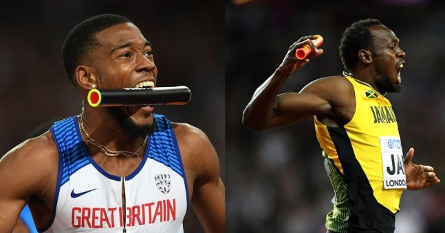 Watch: GB men storm to 4x100m victory as Usain Bolt's career comes to bitterly disappointing end