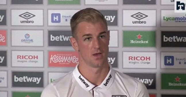 Joe Hart had a hilarious explanation for his black eye