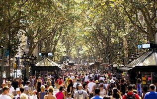 Van hits crowded tourist area in Barcelona, police suspect incident is terror-related