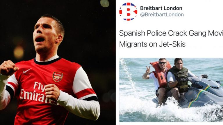 Breitbart apologise for using picture of Lukas Podolski in