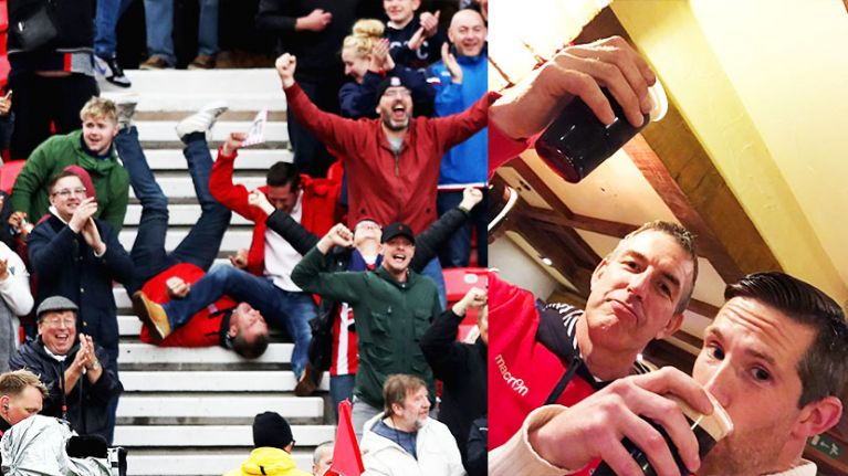Meet Mick and Phil - the Stoke fans whose goal celebration went viral