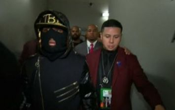 The reason Floyd Mayweather wore a balaclava to the ring on Saturday night
