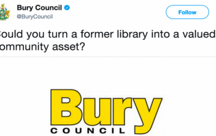 Bury Council gets righteously burned after daft tweet about a closed-down library