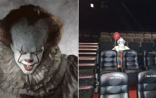 This terrifying clown has been spotted at a screening of IT