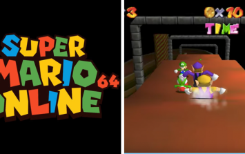 Someone made a version of Super Mario 64 that up to 24 people can play online together