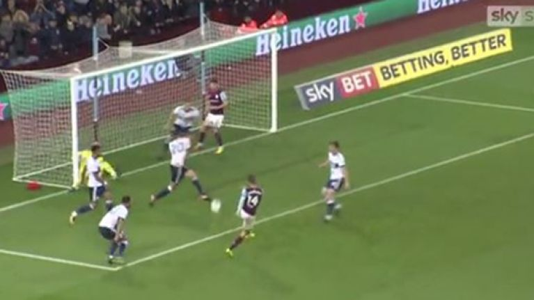 Everyone made the same joke following Aston Villa striker's moment of misery
