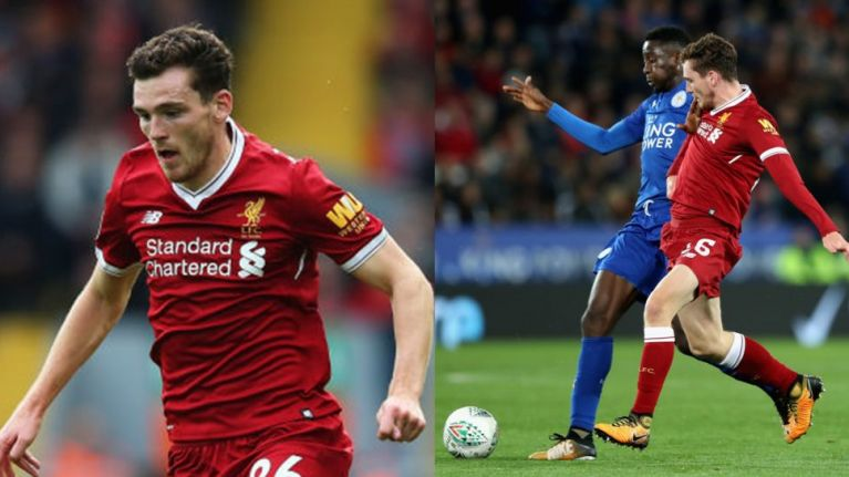 Liverpool fans struggle to contain themselves over Andrew Robertson's performance against Leicester