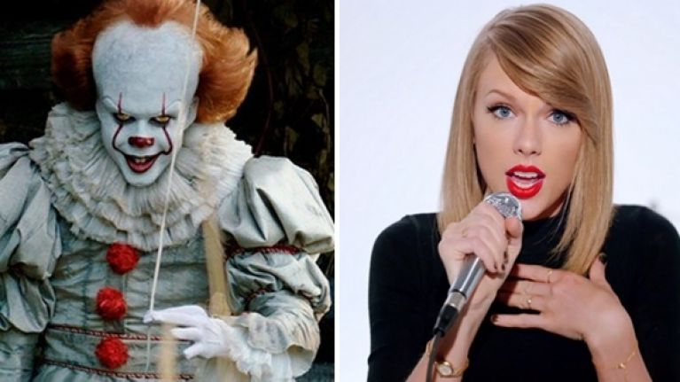 Pennywise from IT dancing to Taylor Swift and the Macarena is fantastic