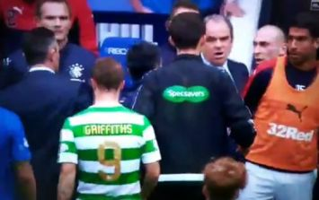 Scott Brown and Rangers manager get into shouting match at half-time