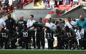 27 Jaguars and Ravens players kneel prior to NFL London game, most ever in one game