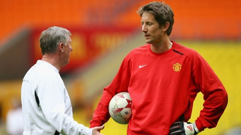 Edwin van der Sar explains how he saved Chelsea penalty in the Champions League final