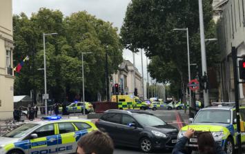 Several people injured as car mounts footpath in London