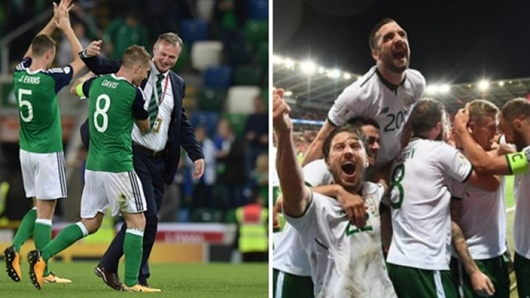 Here's who Northern Ireland and the Republic of Ireland can face in the World Cup playoff draw