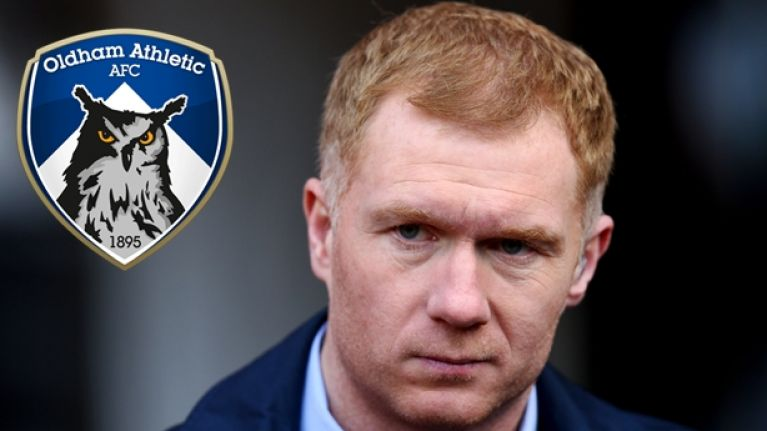 Paul Scholes holds talks about becoming the new Oldham manager