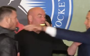 Michael Bisping clashes with Georges St-Pierre backstage