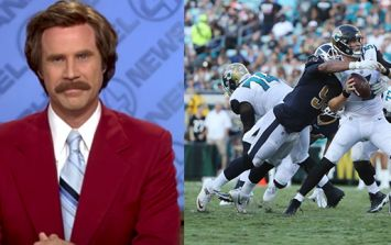 WATCH: NFL commentator produces hilarious Ron Burgundy moment live on air