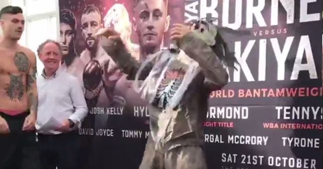 Eccentric fighter shows up to weigh-ins in fancy dress and opponent doesn't appreciate it