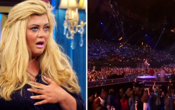 Gemma Collins just fell down a giant hole on live TV